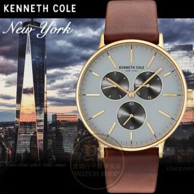Kenneth Cole國際品牌極簡薄型紳士日曆腕錶KC100314672公司貨/設計師/禮物/情人節