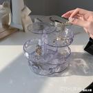 透明旋轉壓克力首飾收納盒小精致耳釘耳環珠寶飾品多層盒子防氧化 618購物節 YTL