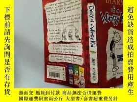 二手書博民逛書店Diary罕見of a Wimpy Kid:一個懦弱的孩子的日記..Y200392