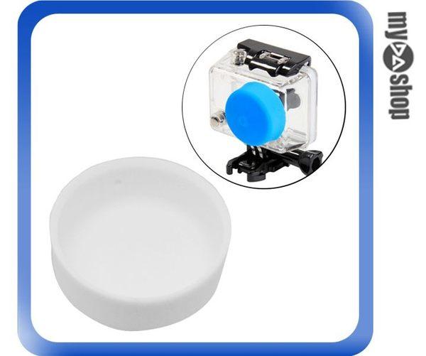 【3件任選88折】GoPro Hero 2 保護殼 矽膠 鏡頭蓋 鏡頭套 白(83-0051)