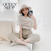 Queen Shop【01038367】Bonne Nuit Amour法文印花TEE 兩色售*現+預*