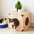 ‧專為寵物主與寵物設計 ‧四面特開圓洞可以供寵物進出 ‧可相互堆疊,作為貓的攀爬架