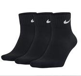 Nike Lightweight Quarter [SX4706-001] 男 短筒襪 運動 透氣 舒適 輕薄 3入 黑
