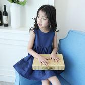 女童裙子新款夏裝兒童韓版透氣棉麻連身裙女孩夏季洋氣公主裙