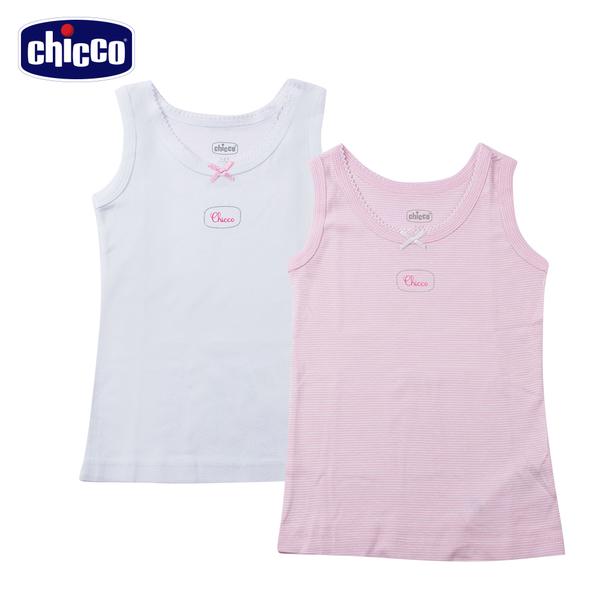 chicco-女童寬肩帶背心二入