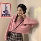 高腰上衣女春季短款露臍長袖t恤ins洋氣時尚寬鬆韓版糖果色娃娃衫 【開春特惠】