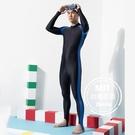 男長水母衣萊卡連身褲泳裝泳衣情侶裝現貨台灣製造美國杜邦萊卡【36-66-M-88339-21】ibella 艾貝拉
