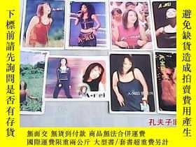 二手書博民逛書店卡片罕見港臺歌星張惠妹 背面是簡介和歌詞 8張合售Y23537