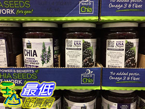 [COSCO代購]低溫宅配無法超取  CHIA BLACKBERRY SPREAD 黑莓奇亞籽果醬910G _C1090523