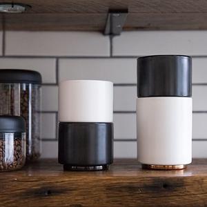 FELLOW MONTY 雙層陶瓷咖啡杯– 4.5oz告耳杯拉花杯啞光黑