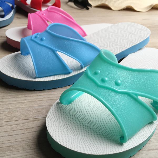 台灣製造-橡膠H拖(藍白拖鞋) -果綠