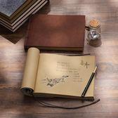筆記本復古毛氈手工本子A4 B5線裝懷舊創意書寫日記記事本涂鴉空白本子