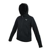 PUMA 女基本系列內刷毛連帽外套(免運 歐規 保暖 吸濕排汗 慢跑 路跑≡排汗專家≡