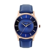 【Relax Time】Classic經典系列立體波紋時尚腕錶-活潑藍(大)/RT-88-3M/台灣總代理公司貨享一年保固