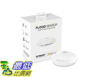 [107美國直購] FIBARO 水感測器 HomeKit Flood Sensor Water  Temperature Sensor for HomeKit only