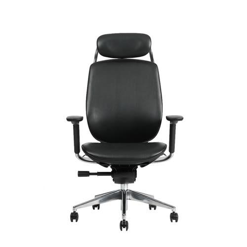 【BNS居家生活館】台灣製BACKBONE -ADDAX-CRAFT真牛皮辦公椅/辦公椅/椅子
