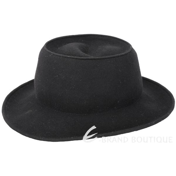 MILSA SECOND 純色黑羊毛紳士帽 1830561-01