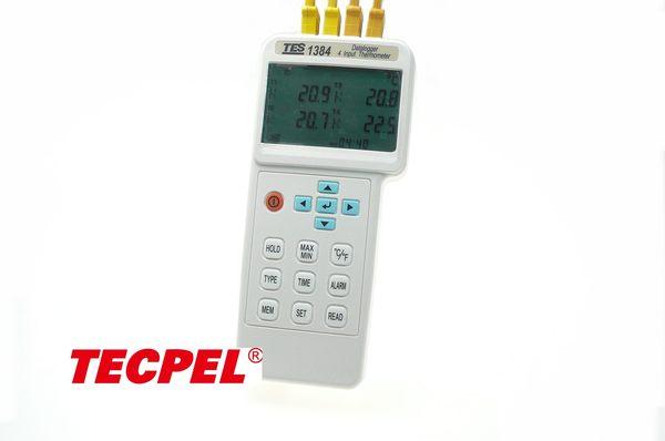 泰菱電子◆四通道溫度計 記錄器 多組溫度計TES泰仕TES-1384 TECPEL