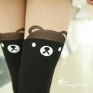 唐朵拉熱銷日版韓系修飾美腿超顯瘦透氣輕薄甜美可愛小熊過膝上假大腿高捷少女貼身褲襪 (210)