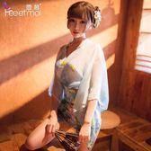 店長推薦性感透視日本制服復古和服日系激情套裝騷情趣內衣女挑逗午夜魅力