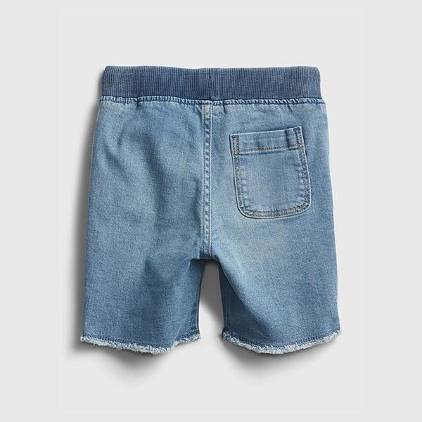 Gap男幼童 柔軟仿牛仔布毛邊短褲 670948-淺色水洗