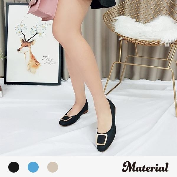 包鞋 方釦平底包鞋 MA女鞋 T3248
