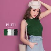 (現貨)PUFII-針織背心 圓領直線坑條無袖針織背心 4色-0419 現+預 春【ZP14419】