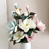 歐式仿真大玉蘭花高檔手感裝飾花假花客廳室內單支幹花大落地擺件 童趣潮品