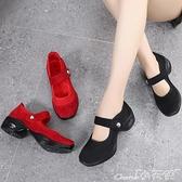 氣墊鞋 新款運動鞋女跑步鞋氣墊透氣網面健步中老年媽媽鞋軟底防滑舞蹈鞋 小天使