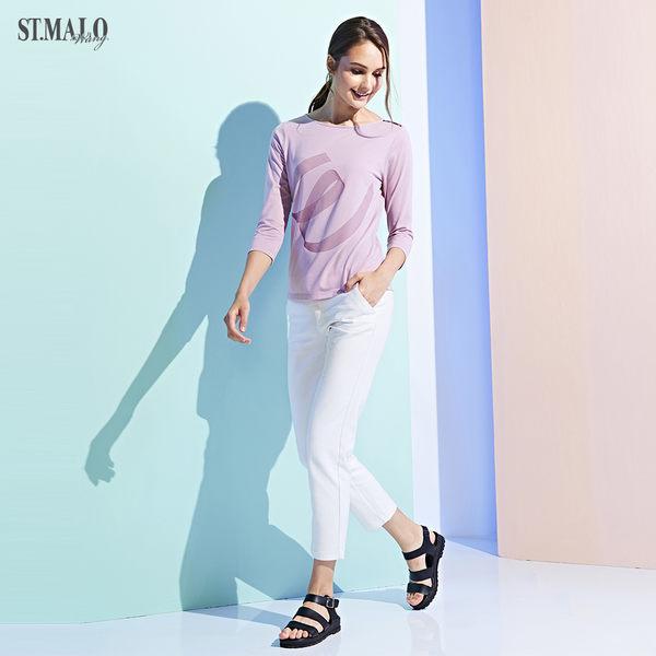 【ST.MALO】當代台灣原創銀纖維機能女上衣-1929WT-嫩藕粉