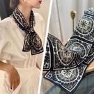 【指南針長條巾】一秒洋氣網紅同款真絲素鄒緞絲巾細窄小領巾飄帶 時尚芭莎