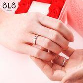情侶戒指一對S925純銀活口日月式對戒學生日送女友禮物 星辰小鋪