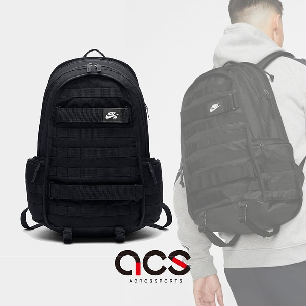 Nike 後背包 SB PRM Backpack 黑 白 男女款 雙肩包 滑板 極限 運動 【ACS】 BA5403-010