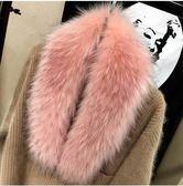 毛領子條仿皮草狐貍毛假領子帽條圍巾圍脖