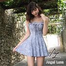 比基尼泳裝-日本品牌AngelLuna 日本直送 幾何印花連身裙OnePiece一件式溫泉沙灘泳衣