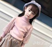中大尺碼女童長袖T 童裝女童打底衫秋冬季新款寶寶加厚保暖長袖上衣兒童T恤 FR240『夢幻家居』