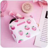 甜美可愛學生小清新粉色草莓化妝包日繫少女心軟妹便攜洗漱收納包 全館八折柜惠