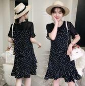 特賣款不退換短袖洋裝大碼裙L-4XL/33140夏季新款修身顯瘦大碼胖mm連衣裙1號公館
