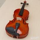 亮光白色啞光小提琴兒童成人初學者練習小提...