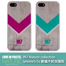 【默肯國際】IN7-Nature collection iphone5/5s 數碼木紋保護殼 i5 5S背蓋