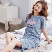 睡裙 女夏棉質短袖寬鬆大碼薄款可愛睡衣女夏家居服可外穿 BT4783『寶貝兒童裝』
