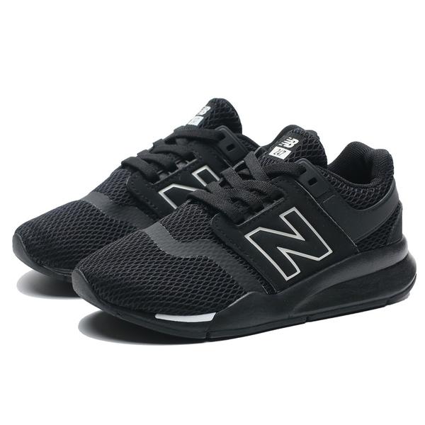 NEW BALANCE NB 247 黑白 網布 透氣 襪套 運動鞋 慢跑 中童 (布魯克林) PH247BE