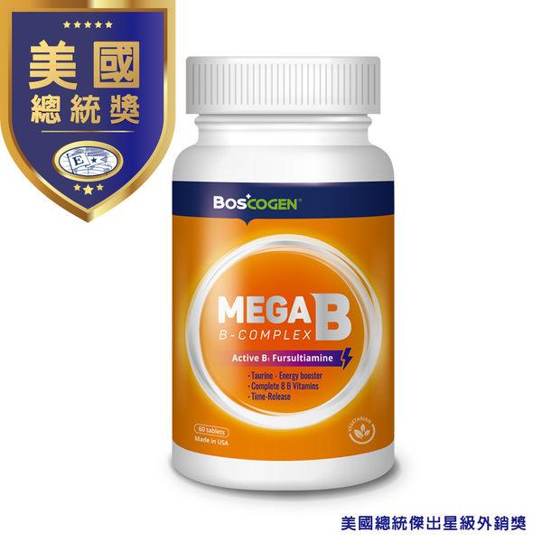 美國百仕可MEGA B 能量錠 Fursultiamine B1強化 精神活力長效B群