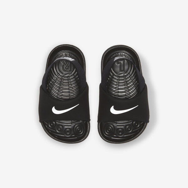 Nike Kawa Slide Td [BV1094-001] 小童款 涼鞋 拖鞋 運動 休閒 舒適 柔軟 彈性 黑