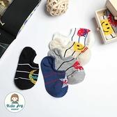 【正韓直送】韓國襪子 蠟筆塗鴉隱形襪 手會微笑 短襪 女襪 禮物 韓妞必備 哈囉喬伊 E32