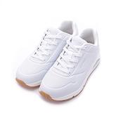 SKECHERS UNO 綁帶氣墊運動鞋 白 73690WWHT 女鞋 休閒