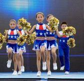 兒童啦啦操演出服裝男女啦啦隊表演服健美操舞蹈裙幼兒「伊衫風尚」