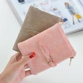 小清新錢包2018新款女韓版潮個性短款多功能學生復古磨砂軟皮夾