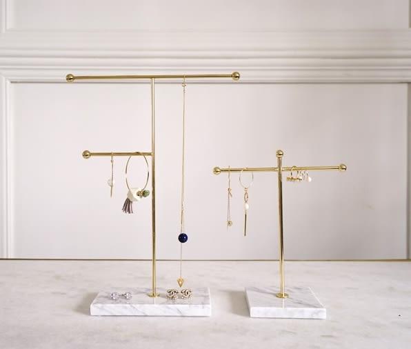 天然大理石首飾架耳環項鍊展示架珠寶盒904546代購通販屋