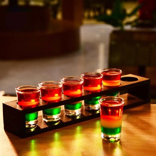 杯架 木子彈杯白酒杯吞杯b52雞尾酒烈酒杯一口杯酒杯套裝酒杯架【快速出貨八折下殺】